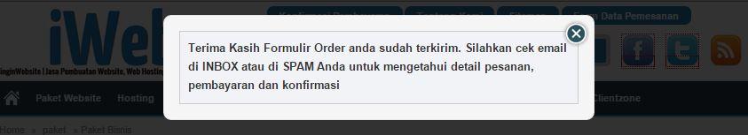 order jasa pembuat website