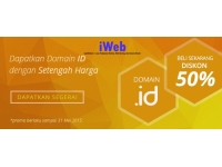 DISKON Domain 50% Untuk Apapun.ID