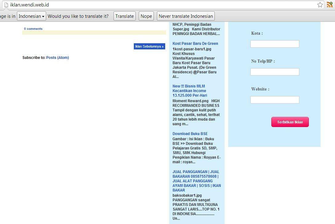 Website Iklan Baris Gratis Jasa Pembuatan Website Toko Online