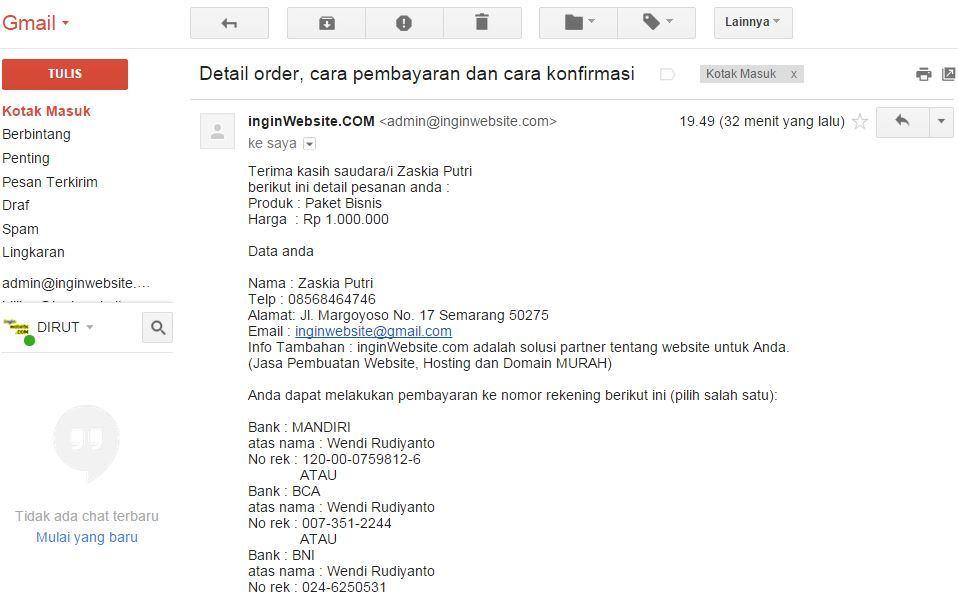 order jasa buat website