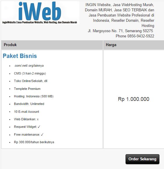 order jasa website