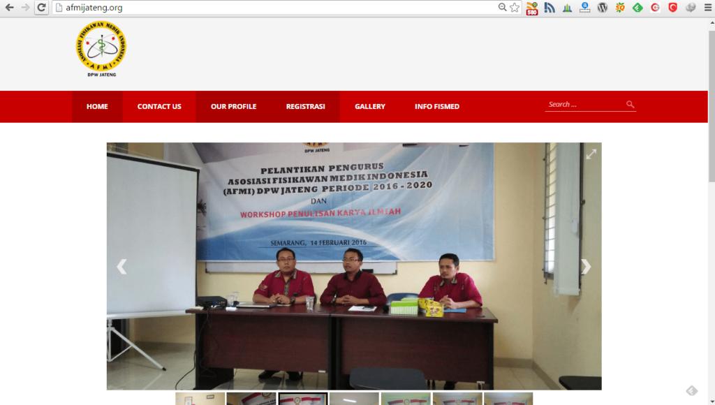 Jasa Pembuatan Website Berita AFMI Jateng ORG
